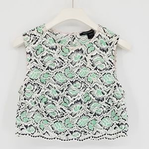 French Connection Cropped Lace Sleeveless Top 6